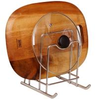 欧润哲 锅盖收纳架 304不锈钢雪橇造型厨房多用途砧板储物置物架