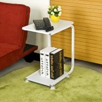 慧乐家 边桌 昊朗U型可移动边几 简易笔记本电脑桌  白色 22032