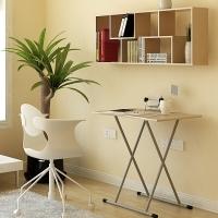 慧乐家 折叠桌 实用学习桌 折叠便携式餐桌 白枫木色 22013