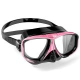 WaterTime 蛙咚 潜水镜 浮潜面具 成人装备护鼻蛙镜 粉黑色
