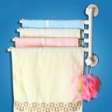 宝优妮厨房置物架收纳架墙壁挂架吸盘毛巾架免打孔可旋转挂毛巾杆厨房用品DQ1522-41