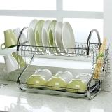 欧润哲 碗碟架 双层S型电镀加粗版厨房用餐具置物沥水刀筷子碗架