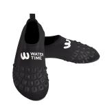 WaterTime蛙咚 男女成人速干透气多功能防滑浮潜鞋沙滩潜水鞋 黑色S
