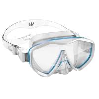 watertime 蛙咚 潜水镜 浮潜面具 儿童男女童面罩 青少年装备面镜 浅蓝色