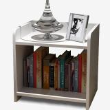 木以成居 床头柜 简约床边柜茶几收纳格柜储物型简易二层小柜子 白色边桌子LY-4012
