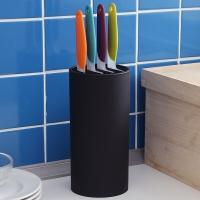 欧润哲 刀架 多用途圆桶型刀具置物架 黑色