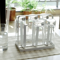 欧润哲 杯架 6杯倒放式杯子置物沥水架玻璃水杯收纳架茶杯储物沥水座 扁铁款