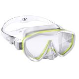 watertime 蛙咚 潜水镜 浮潜面具 儿童男女童面罩 青少年装备面镜 黄色