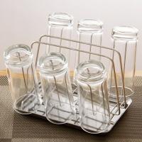 欧润哲 杯架 不锈钢杯架连托盘接水收纳架 水杯挂架杯子置物沥水架