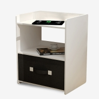 帅力 床头柜 现代简约带抽屉边桌子卧室储物收纳简易斗柜 白色SL17083g