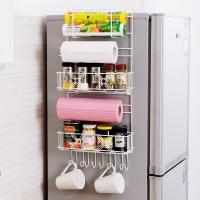 欧润哲 置物架 多功能大容量冰箱侧壁挂架免钉吸盘式无痕收纳架 橱柜侧厨具调料瓶杯子杂物整理架 经典版