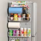 欧润哲 置物架 加宽版多功能冰箱侧壁挂架免钉橱柜侧架厨具调料瓶厨房用品收纳架