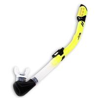 WaterTime 蛙咚 全干式呼吸管 潜水呼吸器 成人专业浮潜水下装备 黄色