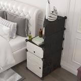 安尔雅 ANERYA 简易床头柜现代简约储物柜迷你组装收纳塑料床边柜子收纳箱柜