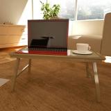 慧乐家 电脑桌 竹托盘床上笔记本电脑桌 折叠家用笔记本桌 本色 33010