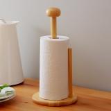 欧润哲 纸巾架 橡胶木厨房家居吸油纸架