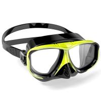 WaterTime 蛙咚 潜水镜 浮潜面具 成人装备护鼻蛙镜 黄黑色