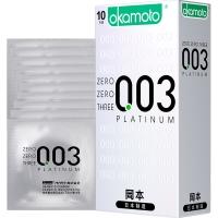 冈本天然胶乳橡胶避孕套,10只(0.03白金超薄)