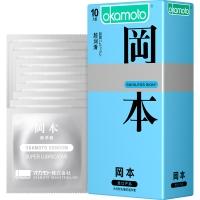 冈本天然胶乳橡胶避孕套,10片(超润滑)