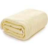 三利 纯棉高密度纱布亲肤童被 A类安全标准婴幼儿用品 裹巾 宝宝盖毯 105×105cm 格点-中黄