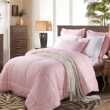 水星家纺 100%羊毛被春秋被 床上用品被子被芯 加大双人被子220*240cm 粉色