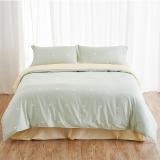 大朴(DAPU)套件家纺 A类床品 精梳纯棉四件套 缎纹印花床单被罩 绿色圆点 1.5米床 200*230cm