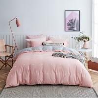 大朴(DAPU)套件家纺 A类床品 精梳纯棉四件套 缎纹印花床单被罩 粉色圆点 1.5米床 200*230cm