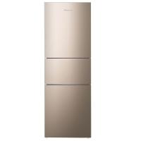 海信 (Hisense) 220升 三门电冰箱 中门软冷冻 小型家用冷藏冷冻 节能省电静音 琥珀金 BCD-220D/Q