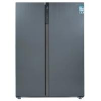 美菱 (MeiLing) 550升对开星河银玻璃外观 薄壁技术0.1度变频WIFI智能浅箱体底部散热多功能冰箱BCD-550WUPB