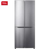 TCL 408升 风冷无霜十字多门双对开电冰箱 AAT养鲜 变频风机 宽薄机身(典雅银)BCD-408WZ50