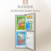 美的(Midea)166升 风冷无霜 电脑控温 母婴小冰箱 双系统双门电冰箱 感温探头 爵士棕 BCD-166WM
