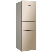 美菱(MELING)219升 风冷无霜 小型三门冰箱电脑控温 中门宽幅变温 玫瑰金 BCD-219WAF