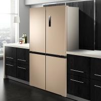 美菱(MELING)501升 十字对开门冰箱 一级能效 636mm纤薄尺寸 0.1度双变频 干湿分储 BCD-501WPUCX