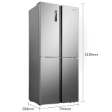 海信 (Hisense) 420升十字對開門電冰箱 風冷無霜變頻電腦控溫 纖薄家用多門四門 BCD-420WMK1DPUJ