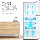 奧馬(Homa) 203升 風冷無霜大兩門冰箱 電腦溫控 靜音節能 冷藏冷凍獨立調溫 金色 BCD-203WH