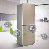 美的(Midea)190升 家用雙門冰箱 節能靜音 持久鎖冷 HIPS環保內膽 陽光米 BCD-190CM(E)