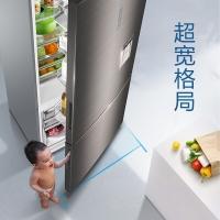 海尔(Haier)495升双变频风冷无霜超宽格局两门冰箱时尚外取水独立面膜盒BCD-495WDEA