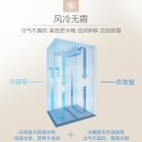 美的(Midea)521升 对开门冰箱 风冷无霜 纤薄机身 双开门电冰箱 双门 节能静音 阳光米 BCD-521WKM(E)