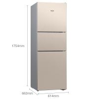 西门子(SIEMENS) 271升 风冷无霜 三门冰箱 双效过滤 精确控温(浅金色) BCD-271W(KG28NV230C)