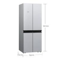 西门子(SIEMENS) 481升 变频混冷十字对开门多门冰箱 分类存储(欧若拉银) BCD-481W(KM49EA90TI)