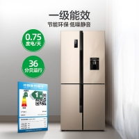 容聲(Ronshen) 426升 十字對開門電冰箱 外取水 一級變頻 智能APP 食尚派 BCD-426WD13FPR