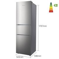 海信 (Hisense) 218升 三门电冰箱 中门软冷冻 小型家用冷藏冷冻 租房节能静音 流光银 BCD-218D/Q