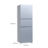 西门子(SIEMENS) 306升 风冷三门冰箱 全无霜 双效过滤LED内显(欧若拉银) BCD-306W(KG32HA290C)