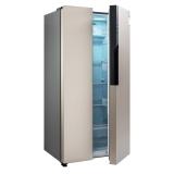 美菱(MELING)436升 对开门冰箱 风冷无霜 56cm纤薄机身 智能电脑控温 咖啡金BCD-436WUECX