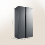 美的(Midea)531升 对开门冰箱 双变频 一级能效 温湿精控 铂金净味电冰箱 炫晶灰 BCD-531WKPZM(E)
