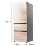 海信 (Hisense) 316升 法式多门电冰箱 玻璃面板 双变频风冷无霜 一级能效智能  BCD-316WNB1DPUQ