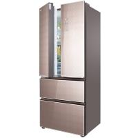 TCL 455升 风冷无霜变频法式多门冰箱 AAT负氧离子养鲜 彩晶玻璃面板 电脑温控 (格雅金)BCD-455WBEPFC2