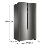 海尔 (Haier)590升无霜双变频对开门冰箱DEO净味精控多路送风90°自动悬停门纤薄机身 BCD-590WDPD