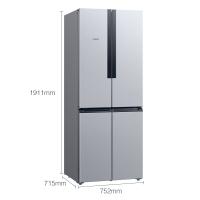 西门子(SIEMENS) 478升 变频混冷十字对开门多门冰箱 前卫外观(拉丝银) BCD-478W(KM47EA16TI)