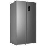 美菱(MELING)561升0.1度精控變頻雙開門 風冷無霜 時尚纖薄 雅典娜對開門冰箱 月光銀 BCD-561WPX